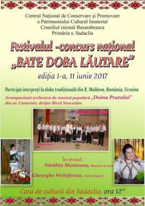 """Festivalul-concurs național """"Bate doba lăutare"""""""