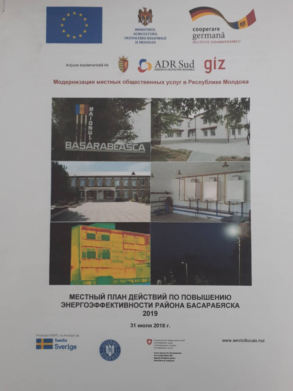 PLANUL LOCAL DE ACȚIUNI ÎN DOMENIUL EFICIENŢEI ENERGETICE A RAIONULUI BASARABEASCA 2019