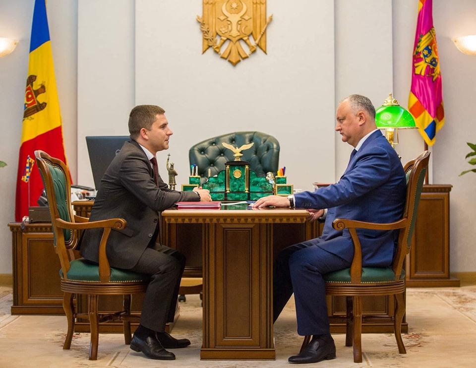 Рабочая встреча с президентом РМ И.Н. Додон, 16 мая 2019 год