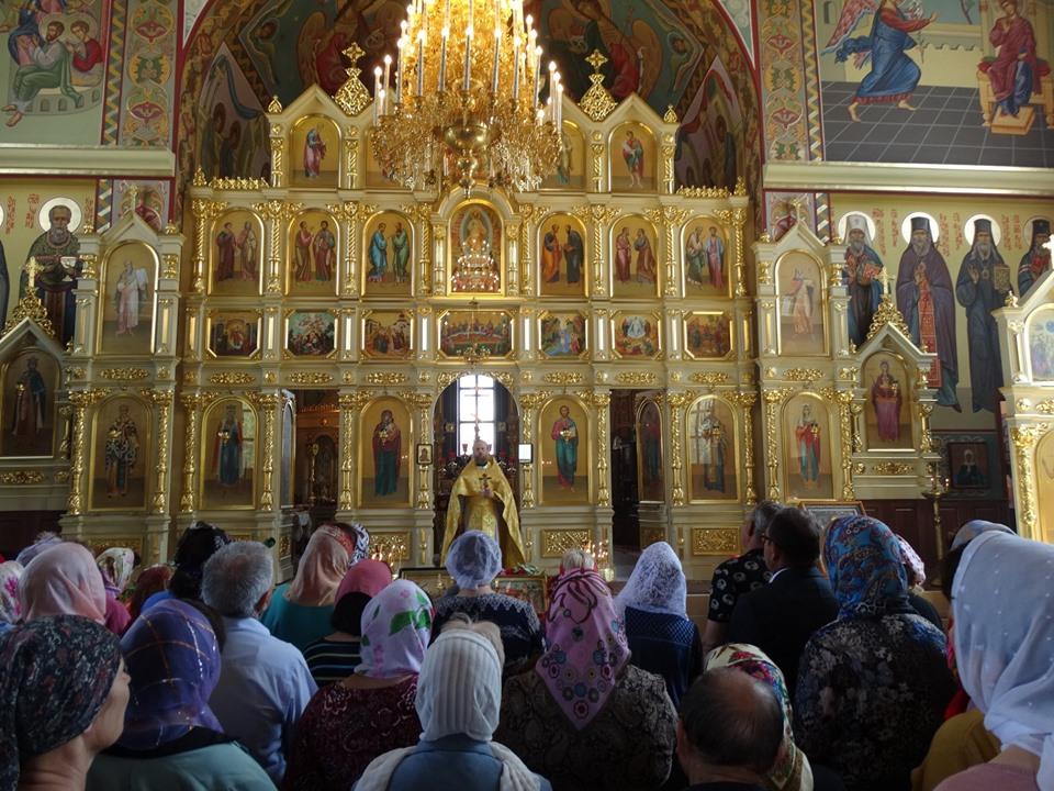 Храмовое богослужение в городе Басарабяска