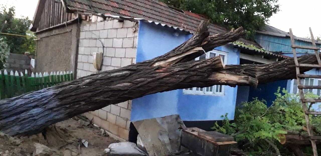 Последствие непогоды в районе Басарабяска, июль 2019 год