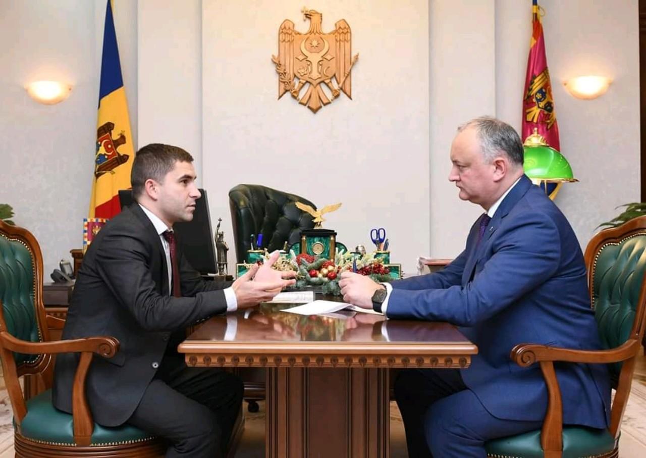 Рабочая встреча с президентом РМ И.Н. Додон, 03 декабря 2019 год