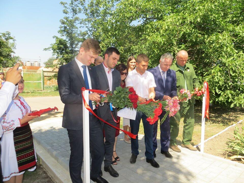 Открытие отреставрированного памятника героям  Великой Отечественной Войны , коммуна Исерлия 12 июля 2020год