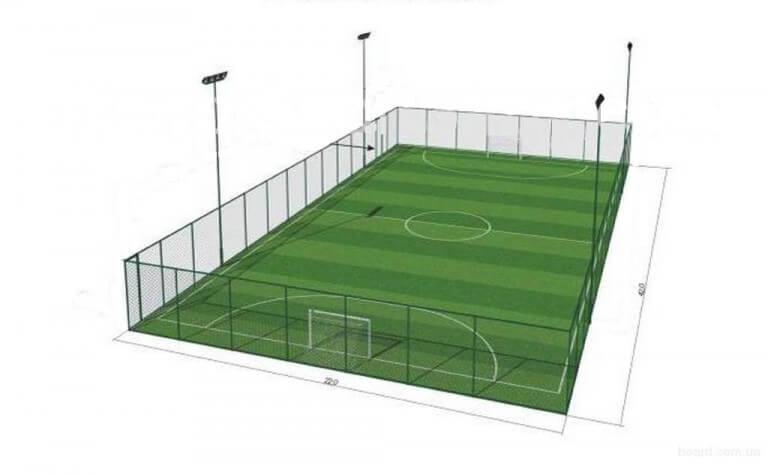 Строительство футбольного поля в лицее Пушкина город Басарабяска, 2020г