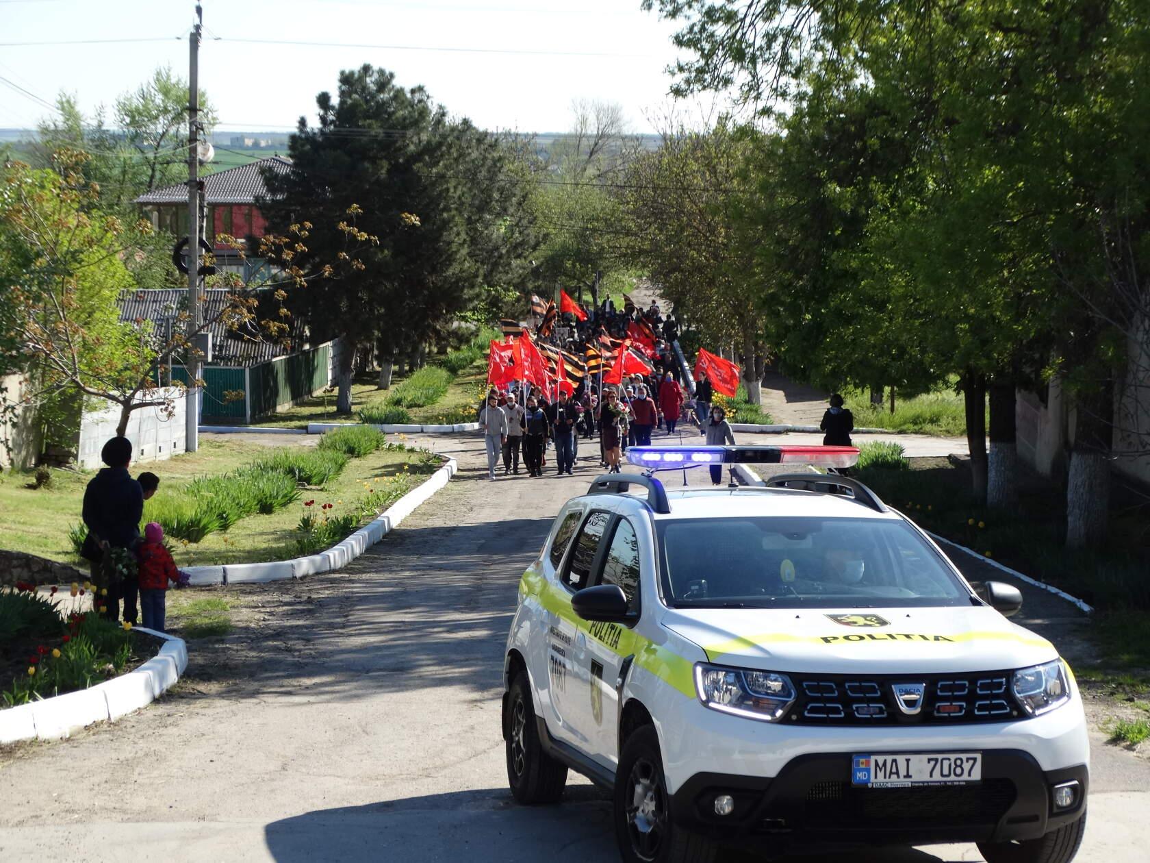Всенародный марш Победы, в городе Басарабяска