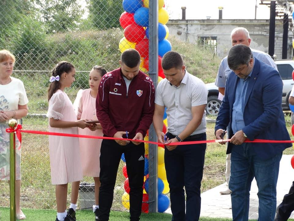 27 августа 2021 год, открытие мини футбольного поля на территории лицея им. А.С. Пушкина.